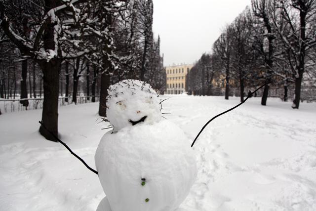 Schneemensch Schönbrunn