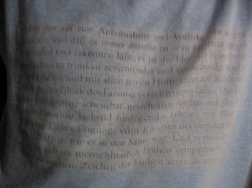text on tshirt